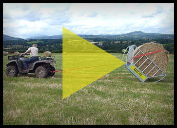 Bale Jail - Cradle Hay Feeder Loading Method